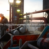 Geoffrey Spencer with Trinidad Drilling works onboard Trinidad Rig 433 operated by Fasken Oil and Ranch, April 11, 2018, north of Midland, Texas. CREDIT: James Durbin / TheOilfieldPhotographer.com MIDLANDOIL
