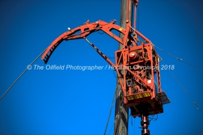 Conquest Completion Services coil tube operation May 30, 2018, in Reeves County, Texas. CREDIT: TheOilfieldPhotographer.com