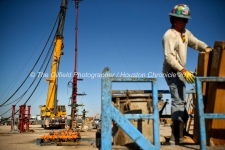 Conquest Completion Services coil tube operation May 30, 2018, in Reeves County, Texas. Visible in foreground is Tyler Bell, fluid engineer with Conquest Completion Services. CREDIT: TheOilfieldPhotographer.com