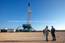 Trinidad Drilling rig 224 Tuesday, July 18, 2017 in Reagan County, Texas.. James Durbin for the Wall Street Journal