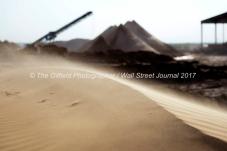 Sand blows across the top of a dune near the the Hi-Crush sand mine, Sept. 7, 2017, north of Kermit, Texas. MANDATORY CREDIT: Hi-Crush / TheOilfieldPhotographer.com