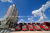 Halliburton equipment at a fracking site managed by Octane Energy on Friday, Sept. 23, 2016 near Stanton. James Durbin/Reporter-Telegram