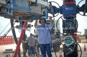 Octane Energy well-site leader Todd Greer stands near a wellhead at a fracking site managed by Octane Energy on Friday, Sept. 23, 2016 near Stanton. James Durbin/Reporter-Telegram