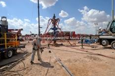 Fracking site managed by Octane Energy on Friday, Sept. 23, 2016 near Stanton. James Durbin/Reporter-Telegram